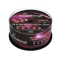MediaRange MR208 CD-R 700MB 50stuk(s) lege cd
