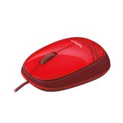 Logitech M105 muis USB Optisch Ambidextrous Rood