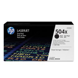 HP 504X originele high-capacity zwarte LaserJet tonercartridge, 2-pack