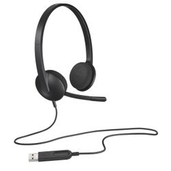 Logitech H340 hoofdtelefoon Stereofonisch Hoofdband Zwart