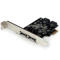 StarTech.com 2-poort PCI Express SATA 6 Gbit/s eSATA Controller Kaart 2x PCI-E SATA III Kaart 2 Intern / 2 Extern interfacekaart