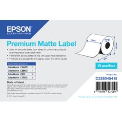 Epson Premium Matte Label Continuous Roll, 76mm x 35m