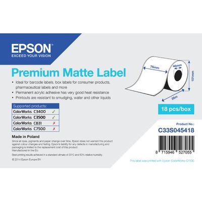 Epson Premium Matte Label - Continuous Roll: 76mm x 35m