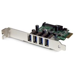 StarTech.com 4-poorts PCI Express PCIe SuperSpeed USB 3.0 controllerkaartadapter met UASP SATA-voeding
