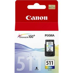 Canon CL-511 Colour Cyaan, Magenta, Geel inktcartridge