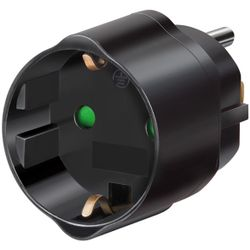 Brennenstuhl Travel Adapter Zwart netvoeding & inverter