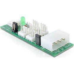 DeLOCK Distribution Board 6x fan 5V/12V interfacekaart/-adapter
