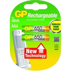 GP Batteries NiMH rechargeable batteries AAA-12065AAAHCC2