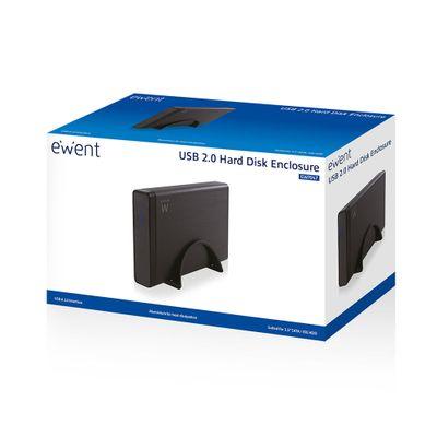 Ewent EW7047 behuizing voor opslagstations HDD-behuizing Zwart 3.5