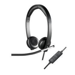 Logitech H650E hoofdtelefoon Stereofonisch Hoofdband Zwart, Zilver