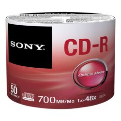 Sony CD-R 48x, 50 700 MB 50 stuk(s)