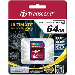 Transcend 64GB SDXC UHS-I 600x Ultimate 64GB SDXC Klasse 10