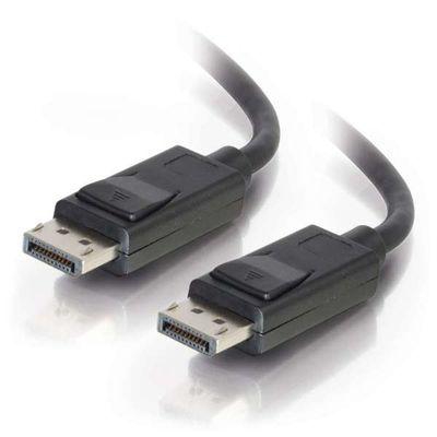 C2G 1m DisplayPort Cable with Latches 4K - 8K UHD M/M - Black Zwart