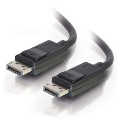 C2G 7m DisplayPort Cable with Latches 4K - 8K UHD M/M - Black Zwart