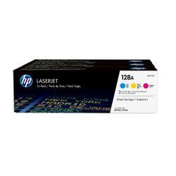 HP 128A originele cyaan/magenta/gele LaserJet tonercartridge, 3-pack