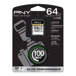 PNY 64GB SDXC flashgeheugen Klasse 10