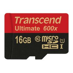 Transcend 16GB microSDHC Class 10 UHS-I (Ultimate) flashgeheugen Klasse 10 MLC