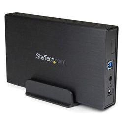 StarTech.com 3,5in zwarte USB 3.0 externe SATA III harde-schijfbehuizing met UASP voor SATA 6 Gbps draagbare externe HDD