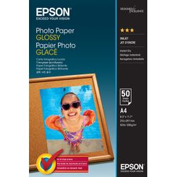 Epson Photo Paper Glossy - A4 - 50 sheets Glans pak