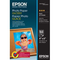 Epson Photo Paper Glossy - 10x15cm - 50 sheets Glans pak