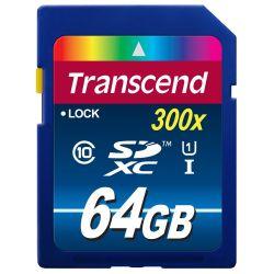 Transcend 64GB SDXC Class10 UHS I, 300X 64GB SDXC UHS Klasse
