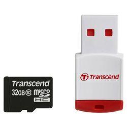 Transcend microSDHC Class 10 with P3 Card Reader (Premium) (TS32GUSDHC10-P3)
