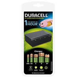 Duracell CEF22-EU Indoor battery charger Zwart