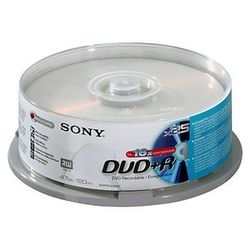 Sony DVD+R 16x, 25 4.7GB DVD+R 25stuk(s)