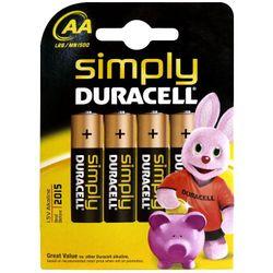 Duracell Simply AA 4 Pack Alkaline 1.5V niet-oplaadbare