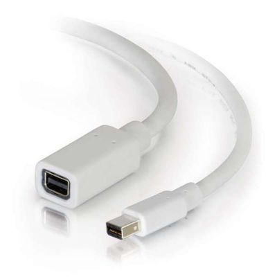 C2G 3.0m Mini DisplayPort M/F 3 m Wit