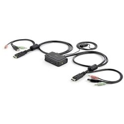 StarTech.com 2-poorts USB DisplayPort-kabel KVM-switch met audio en remote switch met USB-voeding