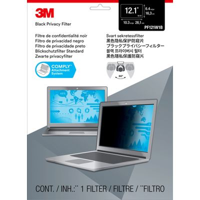 3M PF121W1B Randloze privacyfilter voor schermen 30,7 cm (12.1