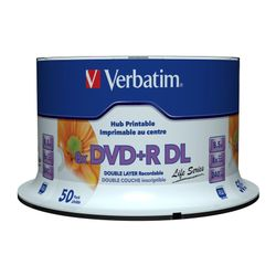 Verbatim DVD+R Double Layer Inkjet Printable 8x Life Series