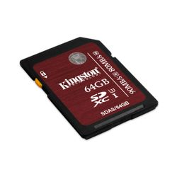 Kingston Technology SDXC UHS-I U3 64GB 64GB SDXC UHS Klasse 3 flashgeheugen-SDA3/64GB