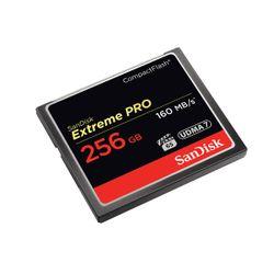 Sandisk Extreme PRO, 256GB 256GB CompactFlash flashgeheugen