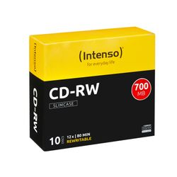 Intenso CD-RW 700MB / 80min, 12x CD-RW 700MB 10stuk(s)
