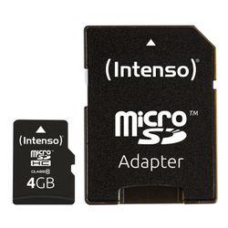Intenso 4GB MicroSDHC 4GB MicroSDHC Klasse 10 flashgeheugen