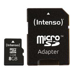 Intenso 8GB MicroSDHC 8GB MicroSDHC Klasse 10 flashgeheugen