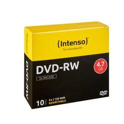 Intenso DVD-RW 4.7GB, 4x 4.7GB DVD-RW 10stuk(s)