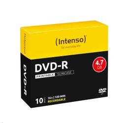 Intenso DVD-R 4.7GB, Printable, 16x 4.7GB DVD-R 10stuk(s)