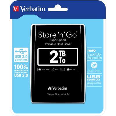 Verbatim Store 'n' Go externe harde schijf 2048 GB Zwart