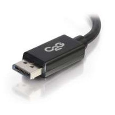C2G 2m DisplayPort Cable with Latches 4K - 8K UHD M/M - Black Zwart
