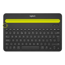 Logitech K480 QWERTY US International Zwart, Geel Bluetooth