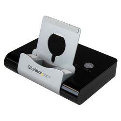 StarTech.com 3-poorts-USB 3.0-hub voor laptops en op Windows gebaseerde tablets plus een snellaadpoort en apparaatstandaard zwar