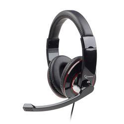 Gembird MHS-001 Hoofdband Zwart hoofdtelefoon