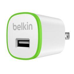 Belkin . Type oplader: Binnen, Lader compatibiliteit: MP3, Smartphone, Type stroombron: AC. Kleur van het product: Groen, Wit. S
