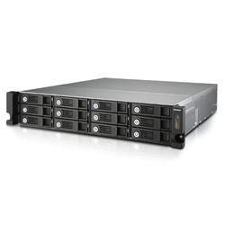 QNAP TVS-1271U-RP NAS Rack (2U) Ethernet LAN Zwart, Grijs