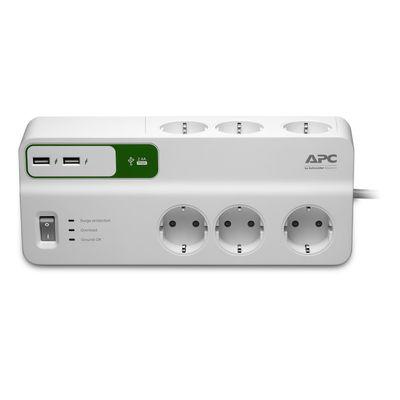 APC Stekkerdoos met overspanningsbeveiliging 6x stopcontact