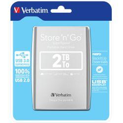 Verbatim Store 'n' Go externe harde schijf 2048 GB Zilver