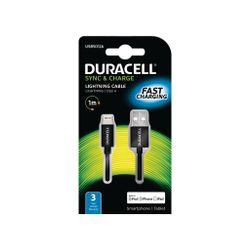 Duracell USB5012A 1m USB Lightning Zwart mobiele